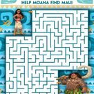 Moana Coloring Pages and Kids Activity Sheets - Printable!