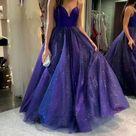Prom Dress Shinning, Prom Dresses, Evening Dress, Dance Dress, Graduation School Party Gown, PC0416 - 10 / Navy