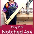 Easy DIY Notched 4x4 Workbench Legs