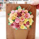 Diy Muttertagskarte mit verstecktem Gruß