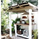outdoor garden table potting station