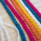 DIY Braided Yarn Table Runner