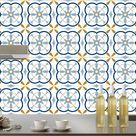 Tile stickers kitchen bathroom backsplash fireplace floor removable waterproof Peel & Stick, washable, Pack x 24 stickers 204-8