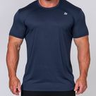 Muscle Nation   Mens Running Tee   Navy   L