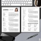 Creative Resume Professional Printable Editable Word Template   Etsy