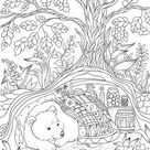 Bear in a Hole - Favoreads Coloring Club