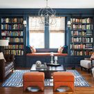 Before & After Moody Online Library Interior Design   Decorilla