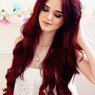 Deep Red Hair Color