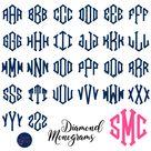 Diamond Monogram Vinyl Decal - 3 / Bubblegum