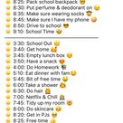 Daily School Routine