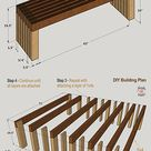 4 DIY Outdoor Bench Plans (FREE) for a Modern Garden Under $45
