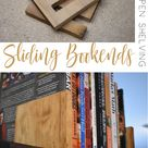 Sliding Bookends for Open Shelving - The Crafted Maker