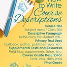 Blog Post☕️How to Write Course Descriptions