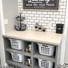 19 Gorgeous Laundry Room Shelving Ideas For an Organized Space