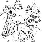Rudolph And Clarice Are Santas The Reindeer Coloring Page