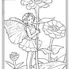 Coloriage a imprimer fee zinnia gratuit et colorier