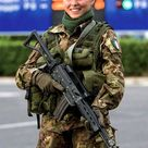 Beautiful Female Italian Solider with gun