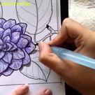 Bloem kleuren met aquarel-effect 1 - Kleuren voor volwassenen