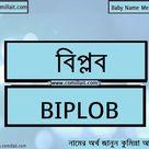 বিপ্লব নামের অর্থ কি    Biplob name meaning in Bengali   COMILLAIT