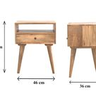 Handcrafted Scandinavian Style Solid Wood Bedside Table
