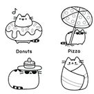 Pusheen Beach Essentials Coloring Page - Free Printable Coloring Pages for Kids