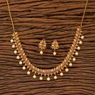 Gold Necklace / Matte Gold Necklace/ Indian Necklace/South Necklace/ One Gram Gold Necklace/ Indian Jewelry/Delicate Gold Necklace