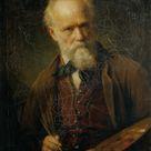 Friedrich von Amerling, 1881 - Self-portrait - fine art print - Canvas print / 120x160cm - 47x63
