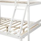 Twin over Full White Wood Minimalistic Bunk Bed
