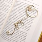 Personalized Bookmark, Personalized Gift, Heart Bookmark, Custom Bookmark, Personalized for Her, Wire Bookmark, Metal Bookmark