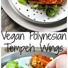 Vegan Polynesian Tempeh Wings