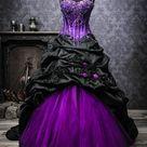 Extravagante Brautmode, schwarze Brautkleider, schwarz-weiße und ausgefallene Brautmode