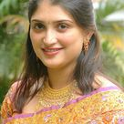 Indian women yellow golden saree fashion