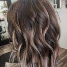 Ash brown bayalage. Lob haircut