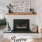 DIY Brick Fireplace Makeover