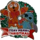 Amazon.com: Disney Pins - Mickey's Very Merry Christmas Party 2009 - Stitch and Gingerbread Man - Limited Edition Pin 73792, Multicoloured, Small: Clothing