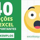 Funções do Excel   40 Fórmulas Mais Importantes   Excel Easy