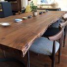 Leviathan Live Edge Dining Table - Smoked Acacia