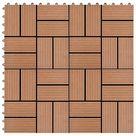 11 Piece Decking Tiles WPC 30x30 cm 1 sqm Brown