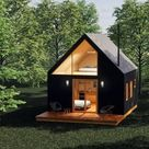 Tiny House Plans, 16' x 32', 512 SF, 1 Bed, Tiny House, Cabin Plans, Cottage Plan, A Frame House, House Plans, Prefab House, Tiny Home,