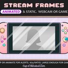Switch Twitch Overlay Webcam or Game Display Frame - Animated YouTube Video / Stream Cam