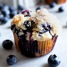 Low Fat Blueberry Muffins