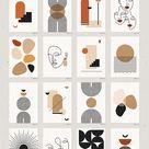 Mid-Century Modern Art Set (1348351)   Illustrations   Design Bundles