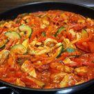 Zucchini-Paprika-Hähnchenpfanne