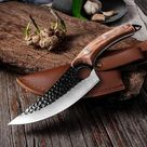 Forged Stainless Knife Set - Brown with Cover