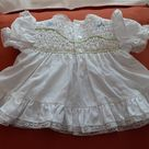 vintage Baby Dress Smocked Embroidered with Bloomers 1980 Nanas Pet JC Penney Exclusive EASTER