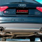 Corsa 08 14 Audi B8 Polished Sport 2.5in Cat Back Dual Rear Exit with Twin Pro Series Tips