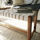 If You Buy One Thing: Woven Leather Bench - Mad About The House