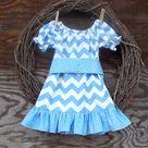 Blue Chevron Dresses