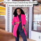 How to style thrifted outfits
