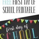 First Day of School Template Free Printable - Freebie Finding Mom
